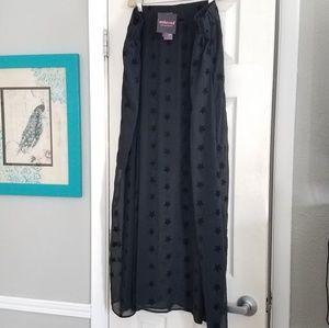 Embossed for Lane Bryant star maxi skirt